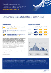 Consumer spending falls at faster pace in June