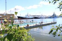Pressinbjudan 6 maj; Var med vid öppningen av Badet i Jubileumsparken, Frihamnen.