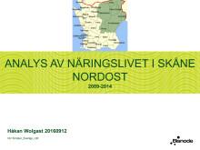 Analys av näringslivet i Skåne Nordost 2009-2014