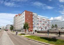 MKB Fastighets AB bygger nytt studenthus med 155 lägenheter i Västra hamnen