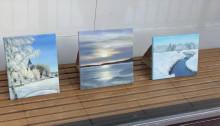 De ställer ut skyltfönsterkonst i Lindesberg