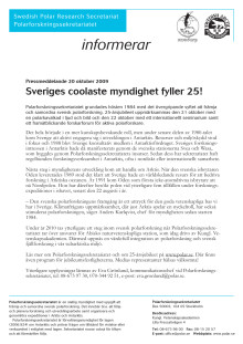 Sveriges coolaste myndighet fyller 25!