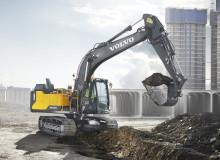 Volvo EC160E och EC180E förbättrar effektivitet och uthållighet