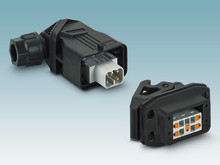 Compact connector housings for single modular contact inserts