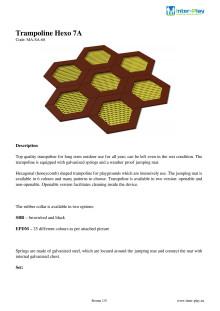 Exempel på produktinformation för trampoliner