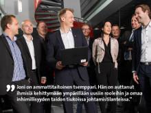 Etera palkitsi: Joni Kapanen Canonilta on Suomen paras pomo