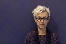 Tina Hellberg väljer blått fiskben i Formex Trendrestaurang
