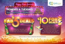 """CLARKE QUAY HAPPY HOUR 2016 HAPPIEST HOUR AT CLARKE QUAY -  """"FAB $5 DEALS"""" & """"$10 FOR TWO DEALS""""!"""