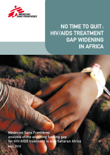 "Rapporten ""No time to quit: HIV/AIDS treatment gap widening in Africa"""
