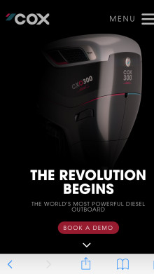METSTRADE - Cox Powertrain: Online Registration to Demo Cox Powertrain's Diesel Outboard now Open