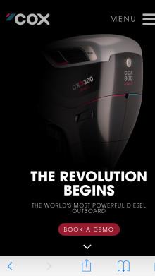 METSTRADE - Cox Powertrain: Online Registration to Demo Cox Powertrain's Diesel Outboard now Open