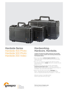 Lowepro Harside, datablad