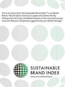 Extract from Sustainable Brand Index 2013 - Market Report