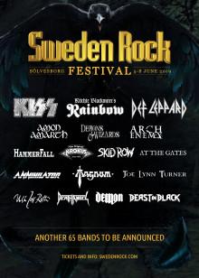 Kiss, Rainbow, Def Leppard och ytterligare 14 band - första akterna inför Sweden Rock Festival 2019 klara