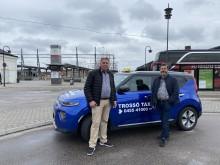 Matleveranser blev räddningen för Nollzons eltaxileverantör i Karlskrona under Coronakrisen