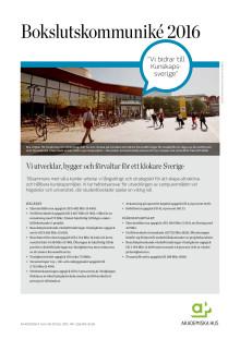 Akademiska Hus bokslutskommuniké 2016