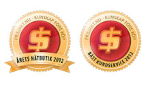 Inet vinner dubbelt – Årets nätbutik och Bäst kundservice 2012
