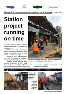 Estree station redevelopment running to time - newsletter number 3
