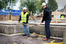 Willhem tog första spadtaget för nya hyresrätter i Karlstad