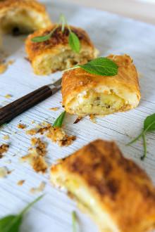 Månadens recept december - Chèvre- och salviafylld potatisrulle