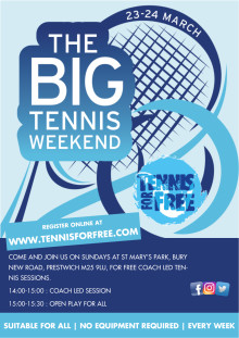 ​Welcome to the Big Tennis Weekend - in Prestwich!