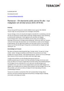 Teracom svarar på remiss om Public Service