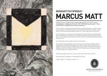 Vernissageinbjudan Marcus Matt