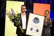 Bart Moeyaert tog ikväll emot Litteraturpriset till Astrid Lindgrens minne 2019