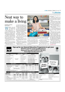 Edits Inc featured in MyPaper, 26 Feb 2014
