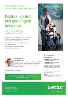"""Inbjudan till seminarium """"Postural kontroll och andningens betydelse"""" - Leva & Fungera i Göteborg"""