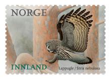 Lappugla pryder historisk frimerke