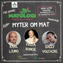 Matologi – kunskap för hälsa och hållbarhet -  tillbaka i Norra Latins trädgård den 20 augusti!