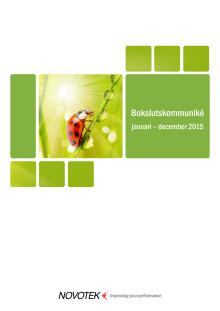 Bokslutskommuniké januari – december 2015