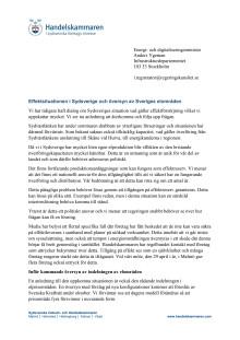Effektsituationen i Sydsverige och översyn av Sveriges elområden