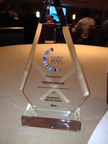 Bankgirot har erhållit Celents Model Bank Awards för utveckling av Betalningar i realtid