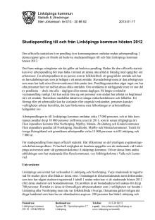 Studiependling 2012 rapport från LK Statistik & Utredningar