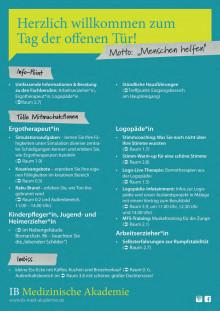 Programm Tag der offenen Tür IB Medizinische Akademie Tübingen