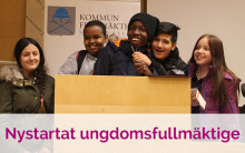 Elever presenterar förslag om framtidens Sundsvall i nya Ungdomsfullmäktige