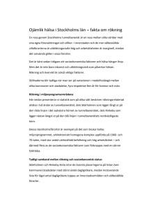 Ojämlik hälsa i Stockholms län