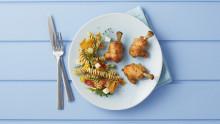 Kylling BBQ minikøller med rød pastapesto salat