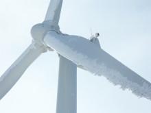 Vad kallas snön som stoppar vindkraften?