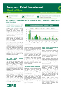 CBRE European Retail Investment Marketview Q3 2014