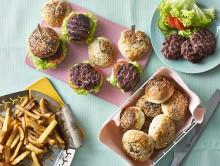 Sliders med hjemmelagde burgerbrød
