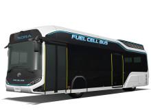 Toyota producerar utsläppsfri bränslecellsdriven elbuss