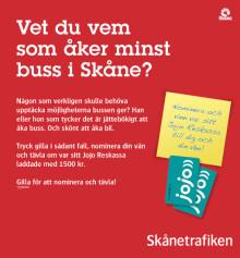 Vet du vem som åker minst buss i Skåne?