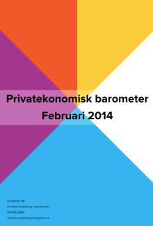 Privatekonomisk barometer februari 2014