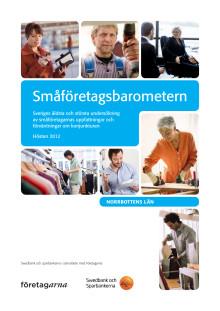 Småföretagsbarometern för Norrbotten hösten 2012