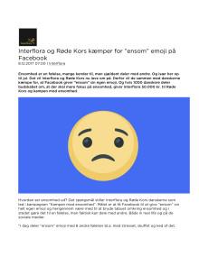 """Interflora og Røde Kors kæmper for """"ensom"""" emoji på Facebook"""