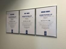 Konsultia certifierade enligt internationell standard efter ett års intensivt arbete