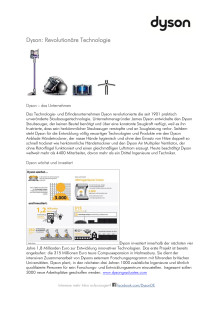 Dyson Revolutionäre Technologie: Unternehmensvita